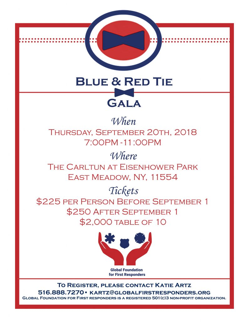 2018 Blue and Red Tie Gala Invitation
